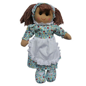 Personalised Powell Craft Blue Flowers Rag Doll - Fabric Doll, Child's Gift