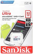 SanDisk Ultra 32 GB 32G micro SD SDHC Class 10 UHS-I 80MB Memory Card TF extreme