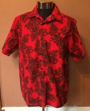O'Neill Hawaiian Mens Short Sleeve Button Up Shirt Lrg. Red And Black Flower NWT