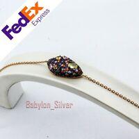 Rose Gold 925 Sterling Silver Turkish Handmade Lady's Luxury Bracelet