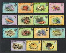 BELIZE STAMPS 1984 FISH AND MARINE LIFE SET OF 16 MINT NEVER HINGED