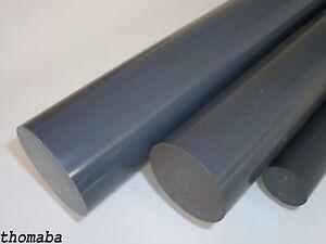 PVC grau , Rund ab Ø 10 - Ø 150 mm wählbar , Modellbau , Stange , Kunststoff