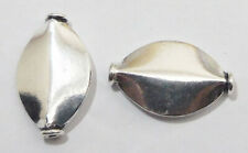 6 PCS 24X15X5MM SPACER BEAD OXIDIZED STERLING SILVER PLATED 175 G31-C122