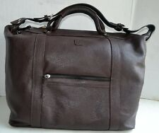 In Pell S.R.L Man Traveler Shoulder Bag Handbag NWT Made in ITALY Dark Chocolate