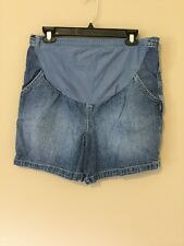 Motherhood Women Maternity Denim Jean Shorts Size M