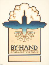 Original Vintage Poster By Hand Handmade Clothing David Goines 1974 Berkeley