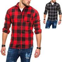 Jack & Jones Herren Langarmhemd Kariertes Hemd Herrenhemd mit Karo Muster SALE %
