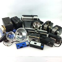 Large Lot Kodak Cameras 35mm Film 8mm Super 8 Instant & Accessories Vintage Set