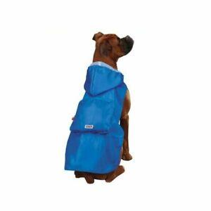 KONG STOWAWAY RAIN DOG JACKET RAINCOAT COMPACT FOLDUP POUCH RED or BLUE MSC SIZE