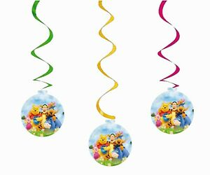 Party Swirl decorations 10 Party Spirals Pendant Hanging winnie the pooh party