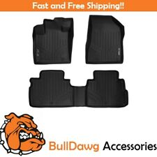SMARTLINER All Weather Floor Mats Liner Complete Set for Nissan Murano Black