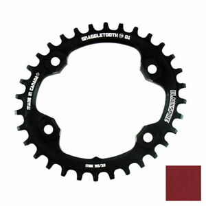 Snaggletooth Narrow/ Wide Oval Chainring 96/34T Shimano XT M8000 Red 421584023