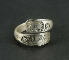 Ring Sterling Northwest Coast Silver 925 Vintage Wrap Style Band Ring Size 8