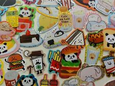 Journal Planner flake Sticker Cute Burger Food Soda Marshmallow Sushi Kawaii Lot