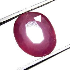 4.35Ct. Natural Oval Cut  Pink Madagascar (10X8X4MM) Ruby FREE STONE BOX-CH 7040