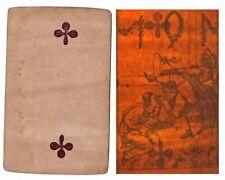 PLAYING CARD transparency EROTIC circa 1830 - 1860 / optical toy hidden / 182