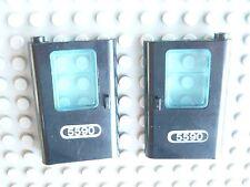 Lego Technic: MT 5590 Helicopter  2 Türen schwarz links+rechts mit Sticker 5590