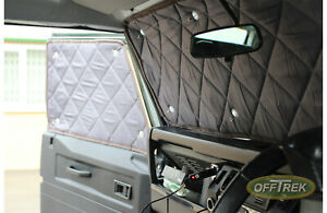 Land Rover DEFENDER Inner Thermal Screens 3 pcs Cab Only Expedition German Made