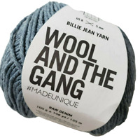 WOOL AND THE GANG Billie Jean Yarn Up-cycled Chemical and Dye Free Raw Denim