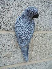 African Grey Parrot wall plaque concrete garden ornament