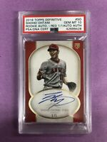 2018 Topps Definitive Shohei Ohtani RC Rookie Red Auto 1/1 PSA 10 GEM MINT