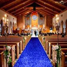 Aisle Runner 10 ft Wedding Aisle Runner Outdoor Glitter Runner Royal Blue Church
