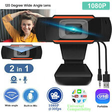 1080P Web Cam HD Camera USB Webcam with Mic Microphone for Computer  Mac Xbox 5M