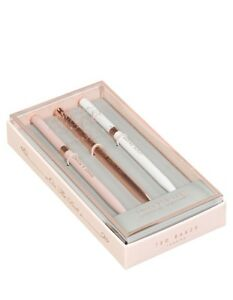 Ted Baker Twist Pen Set (Set Of 3 Ballpoint Pens) -NEW with tags in unopened box