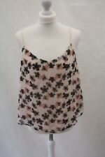 New Look, Ladies Summer Floral Print Chiffon Feel Cami Vest Blouse, Size 14, New