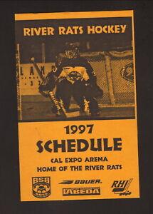 Sacramento River Rats--1997 Home Pocket Schedule--RHI