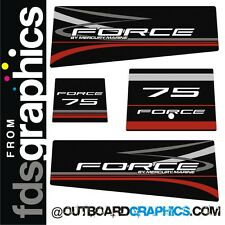 Mercury Force 75hp outboard graphics/sticker kit