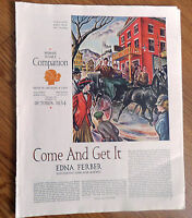 1934 Article Ad Edna Ferber Begins a New Novel Come and Get It