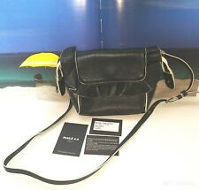 Paule Ka Black and White Leather Shoulder Bag NWT Retails $390