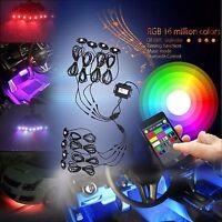 8X Pod Wireless Bluetooth RGB LED Rock Lights Music Flashing Multi Color Offroad