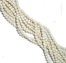 """8mm Round Magnesite White Buffalo Turquoise Round Beads 40cm 15""""  Stone"""