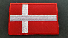 NATIONAL COUNTRY FLAG SEW ON / IRON ON PATCH:- DENMARK
