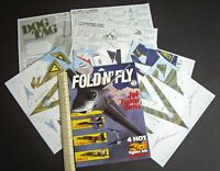 1996 Fold N' Fly Jet Fighter Cut-Out Paper Models. F-16, F-18, F-5 & Kfir-C2