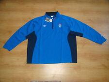 Glasgow Rangers Soccer Drill Top Scotland Umbro Football Training Shirt 4XL 5XL