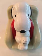 Snoopy In Chair Ceramic Figure 1958 1966 United Feature Syndicate Made In Japan