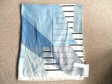 New LACOSTE Cotton SCARF SHAWL Blues / Greys / Flour TAGS 120 x 140cm