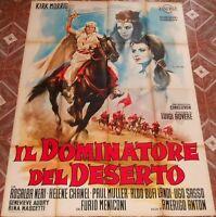 MANIFESTO 4F ORIGINALE DEL FILM IL DOMINATORE DEL DESERTO 1964