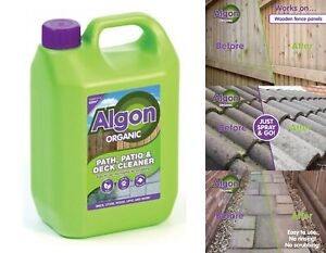 Algon Organic Outdoor Decking Path Patio Wood Driveway Cleaner Concentrate 2.5L