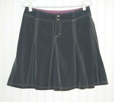 Athleta Whatever Skirt Petites 6P Graphite Gray Pleated Athletic Skort Pockets
