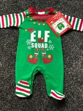 Baby Clothes Christmas Day Elf Pyjamas Squad Newborn Sleepsuit
