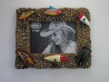 Fishing Lure Pebbles 7 x 5 Picture Frame Crank Bait Stream Cabin Rustic Lodge