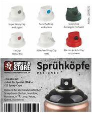 Sprühköpfe Cap Pack Aufsätze für Sprühdosen Kreativ Set Designer Spezial Effekte
