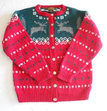 Eddie Bauer Vintage 90s Christmas Sweater Cardigan Nordic Reindeer M