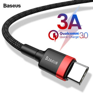 Baseus USB Type C Cable USB-C For Phone MacBook Fast Quick Charging Data Sync