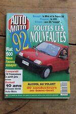 Auto Moto - N°111 - 1992 - Rover 114 Renault Clio S Panhard 24 CTS Fiat 500