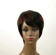 perruque femme afro 100% cheveux naturel courte méchée noir/rouge JEAN 02/1b410